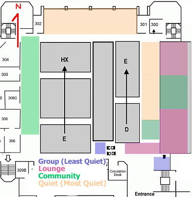 Study Zones - Third Floor
